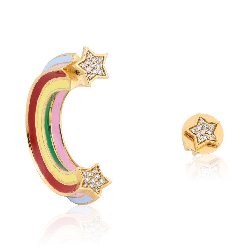 AISHA BAKER Shooting Star Earrings LUX000407