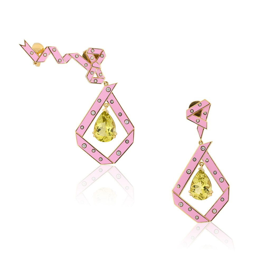 AISHA BAKER The Cadeau Pink Earrings LUX000403