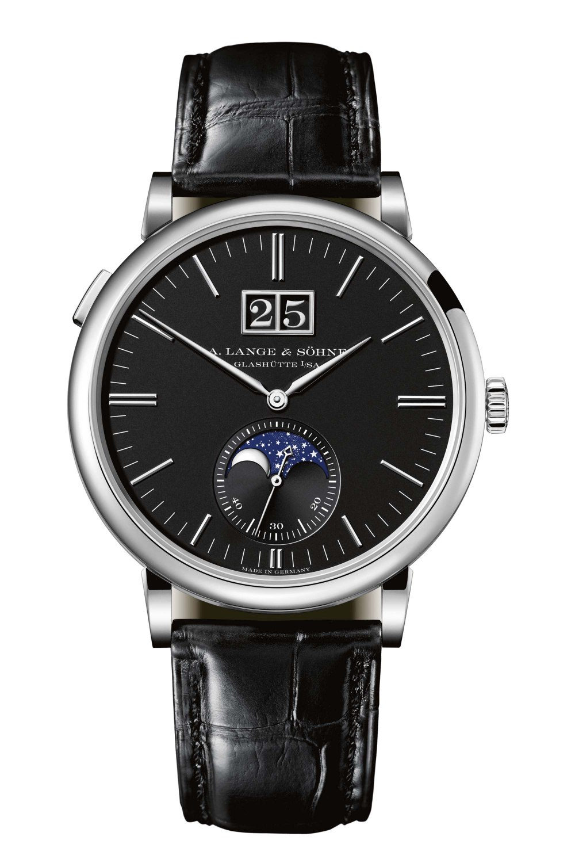 A. LANGE & SÖHNE Saxonia Outsize Date White Gold Black Dial 384.029