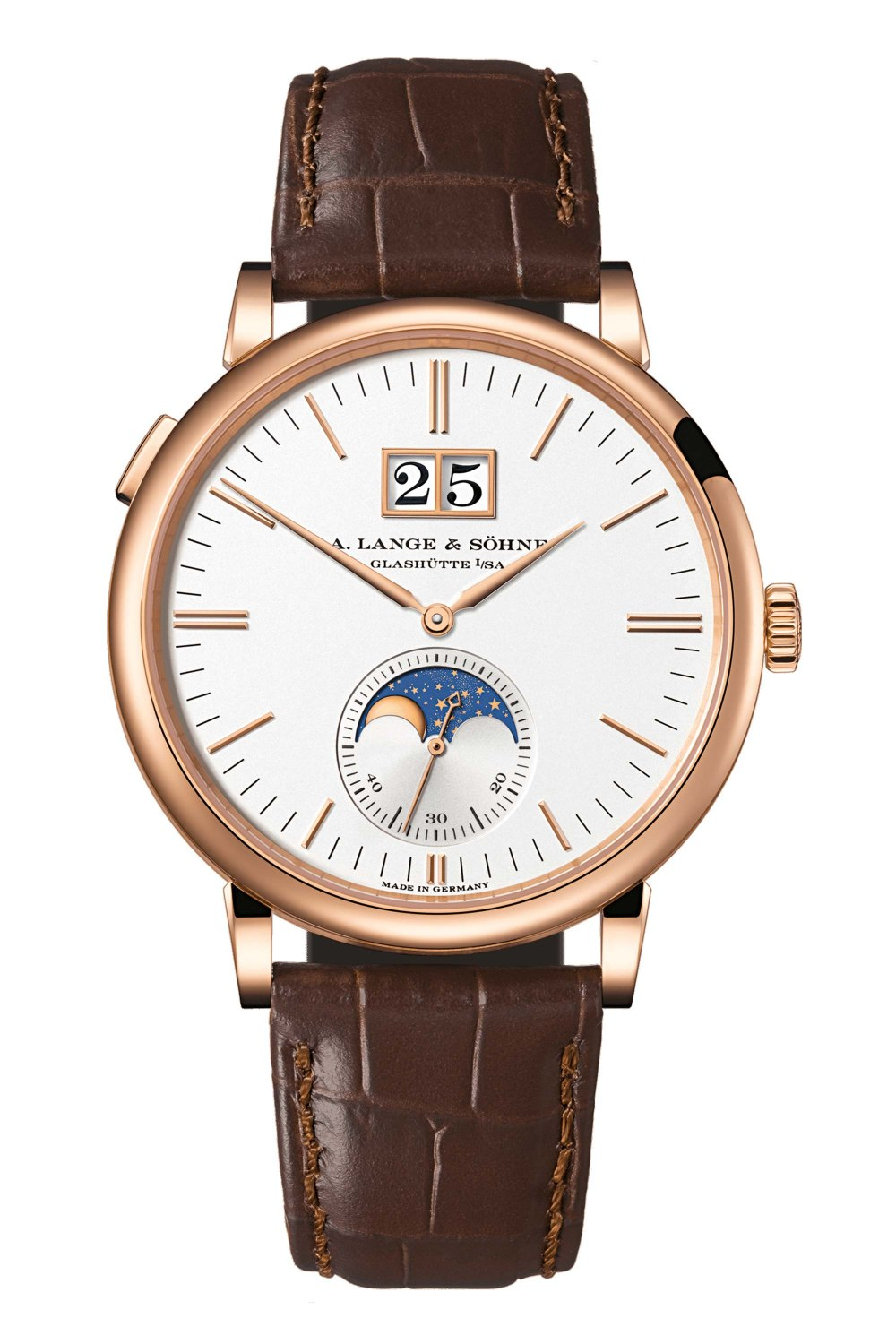 A. LANGE & SÖHNE Saxonia Outsize Date Rose Gold 384.032