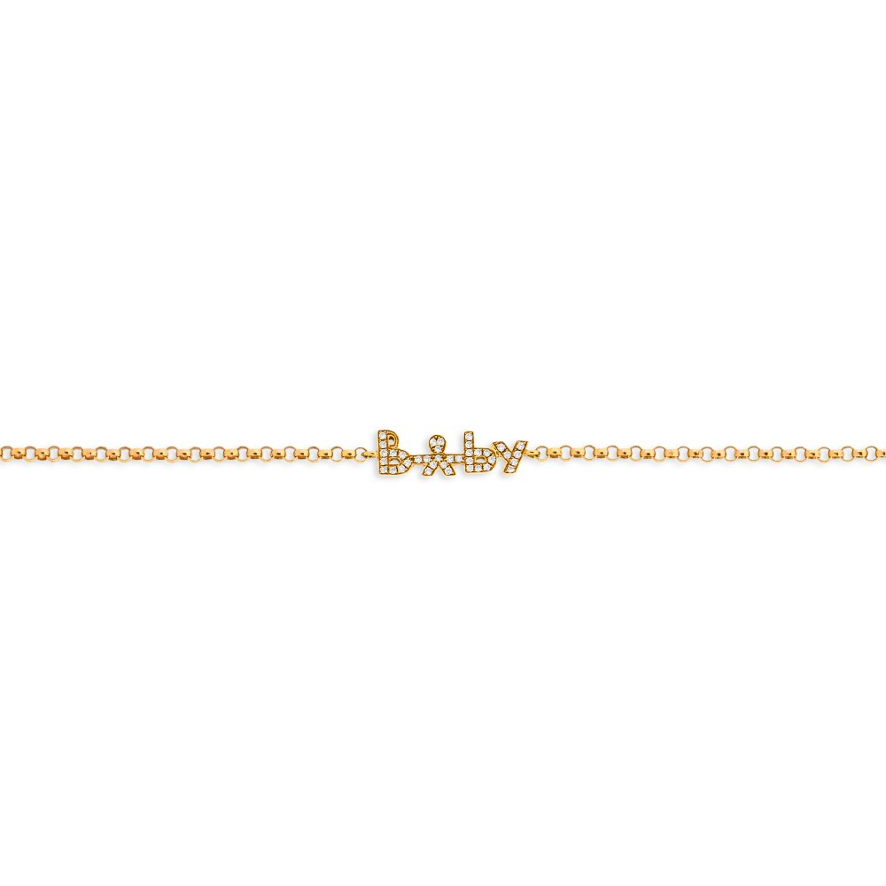 KESSARIS Baby Diamond Gold Bracelet BRE85763