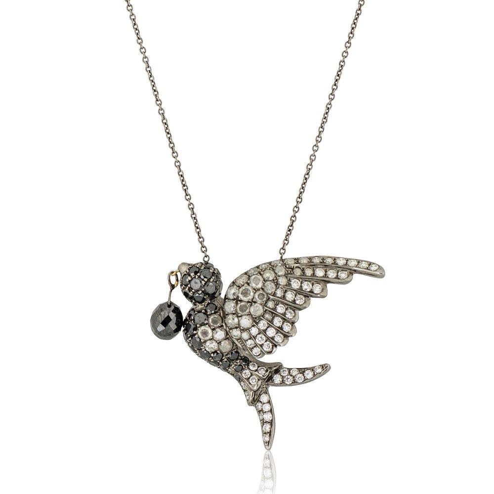 KESSARIS Bird Diamond Necklace KOP110926