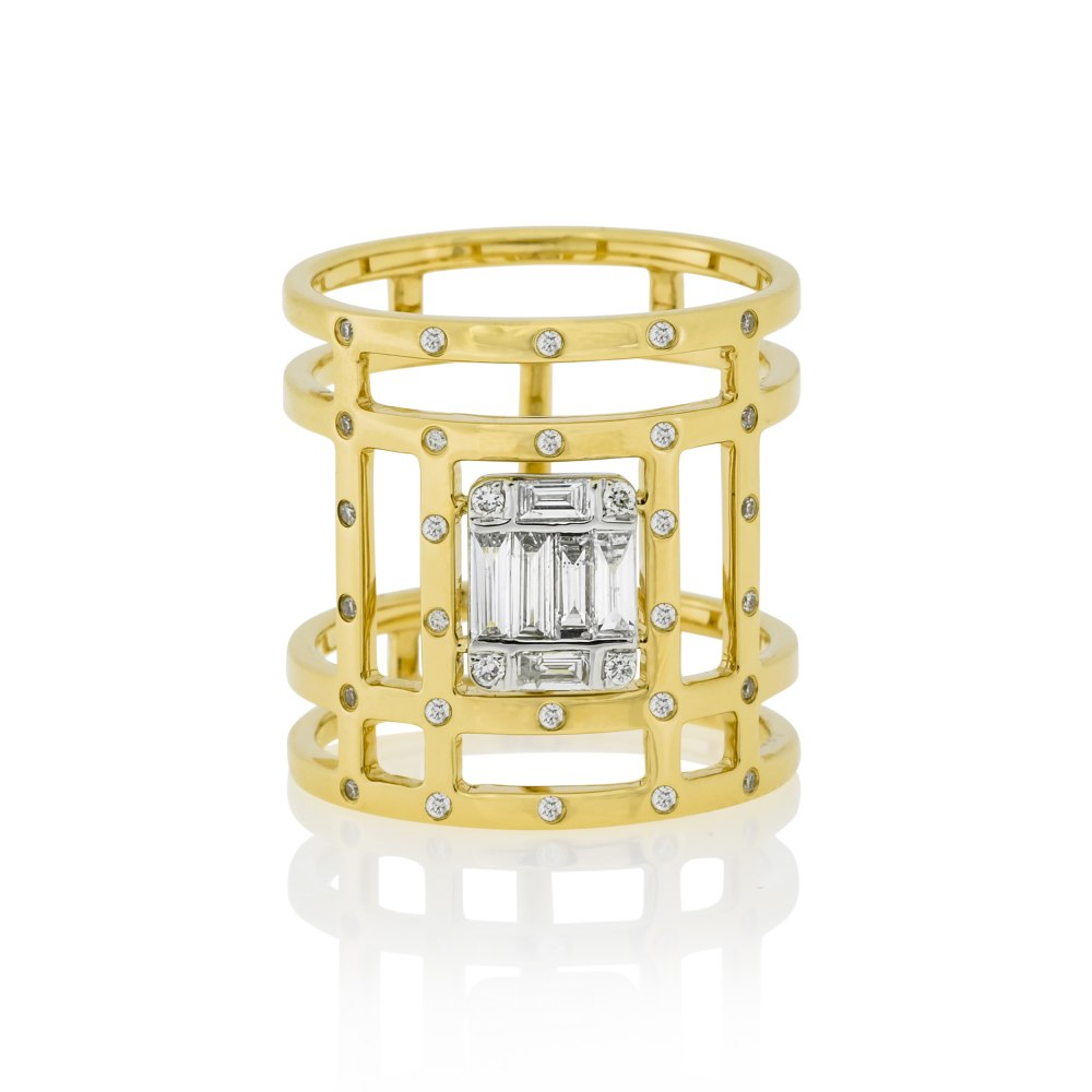 Kessaris Contemporary Diamond Ring