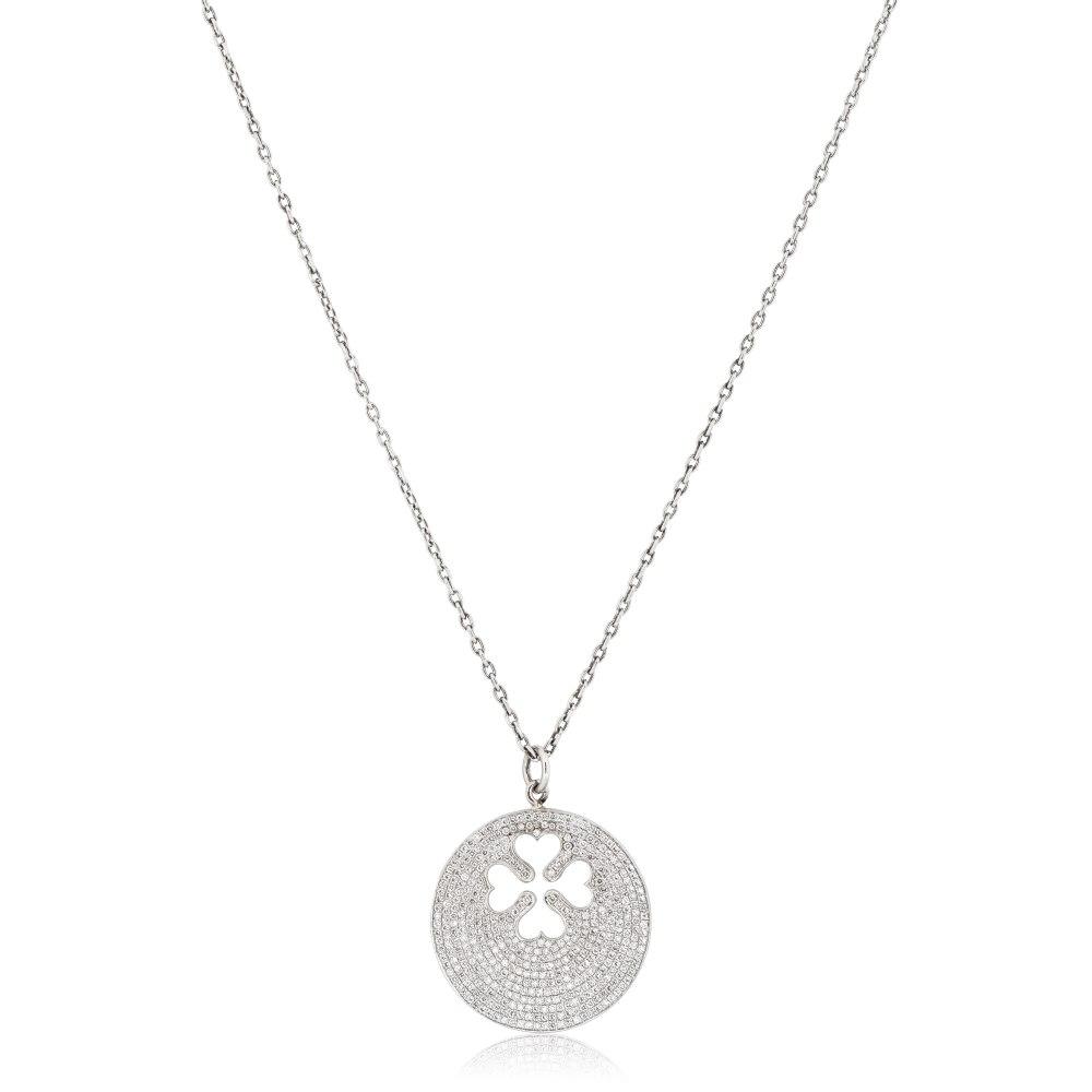 KESSARIS Diamond Four Leaf Clover Pendant KRE53454