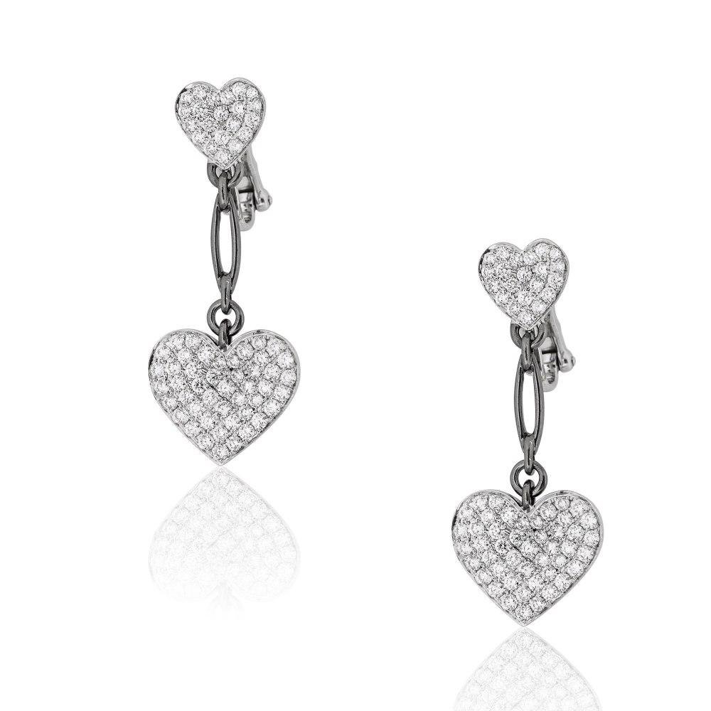 KESSARIS Diamond Heart Earrings SKE101253