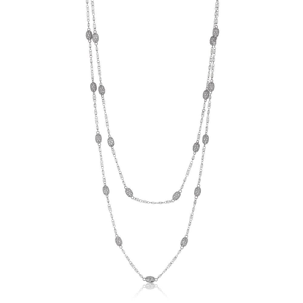 KESSARIS Diamond Beads Necklace KOP131059