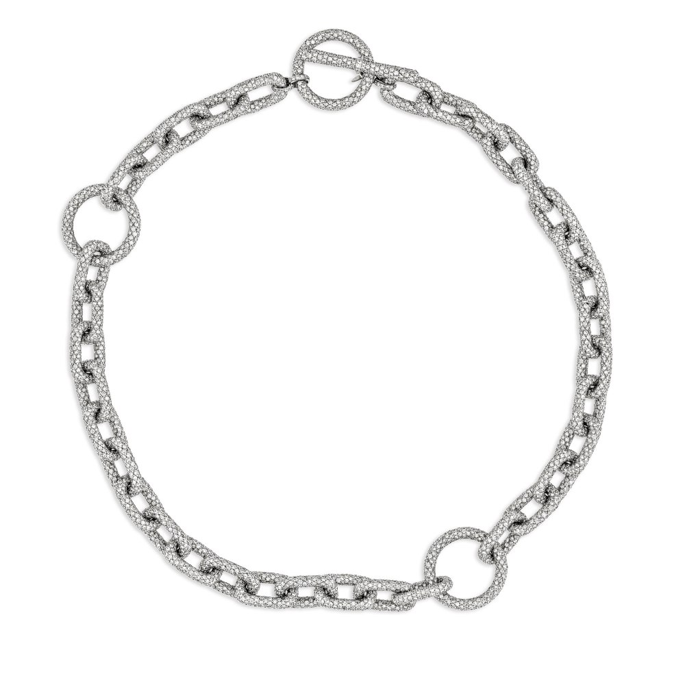 KESSARIS Diamond Chain Necklace KOE81402