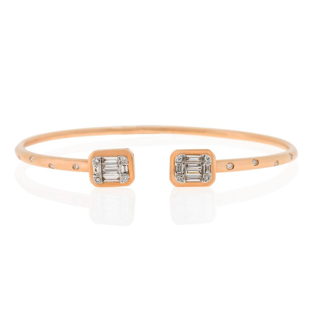 Kessaris-Diamond Cuff Bracelet