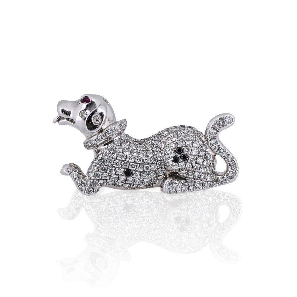 Kessaris Diamond Dog Ring