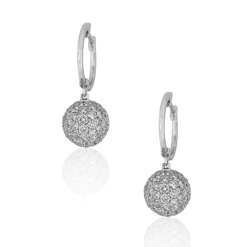 KESSARIS Diamond Gypset Hoop Earrings SKE192748