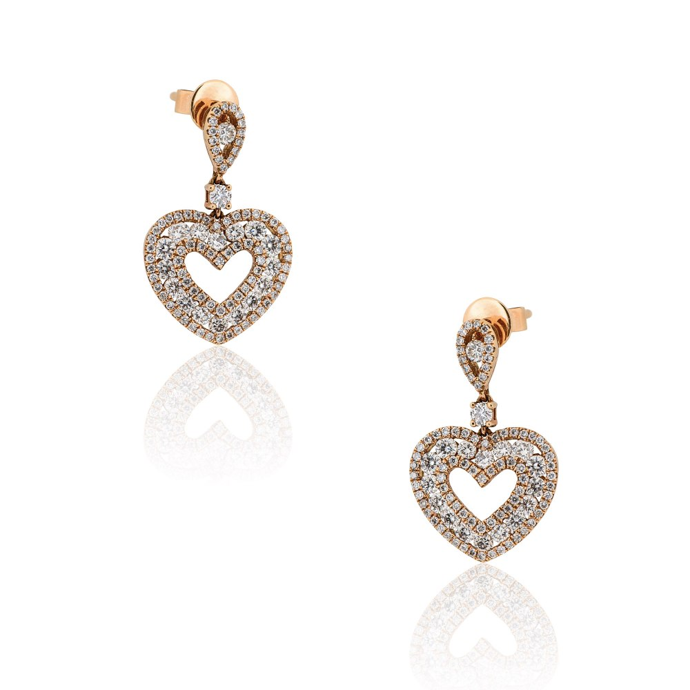 KESSARIS Diamond Heart Earrings SKP162515