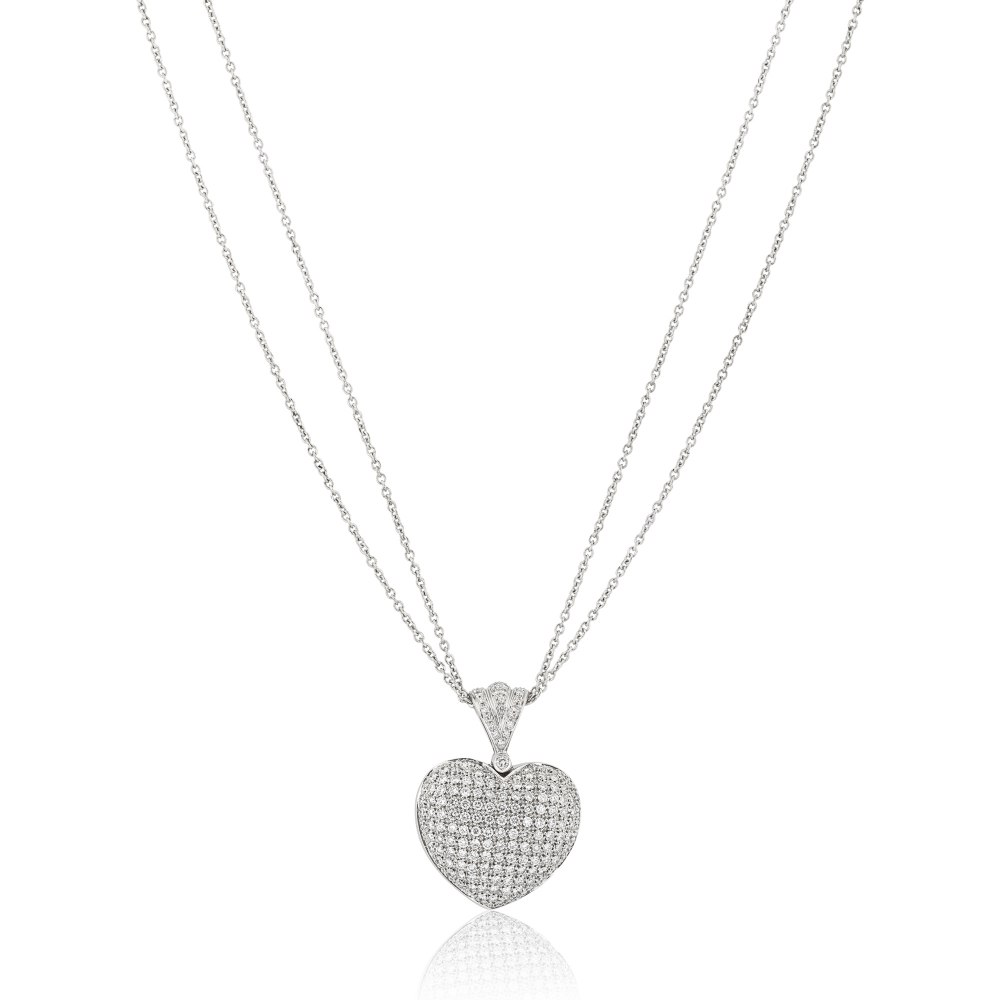 KESSARIS Diamond Heart Necklace KO43962