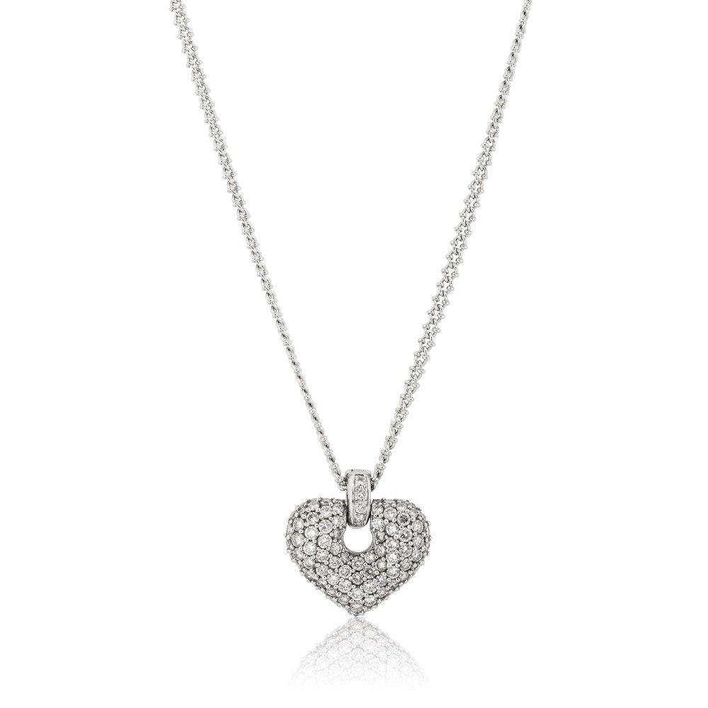 KESSARIS Diamond Heart Pendant KR47004