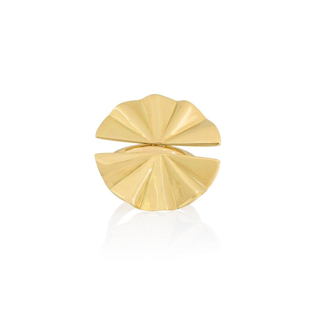 ANASTASIA KESSARIS Double Goldie Geisha Yellow Gold Ring DAP200147