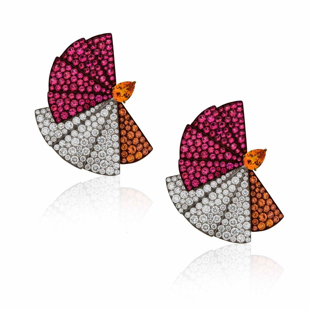 KESSARIS Gold Titanium Earrings SKP181599