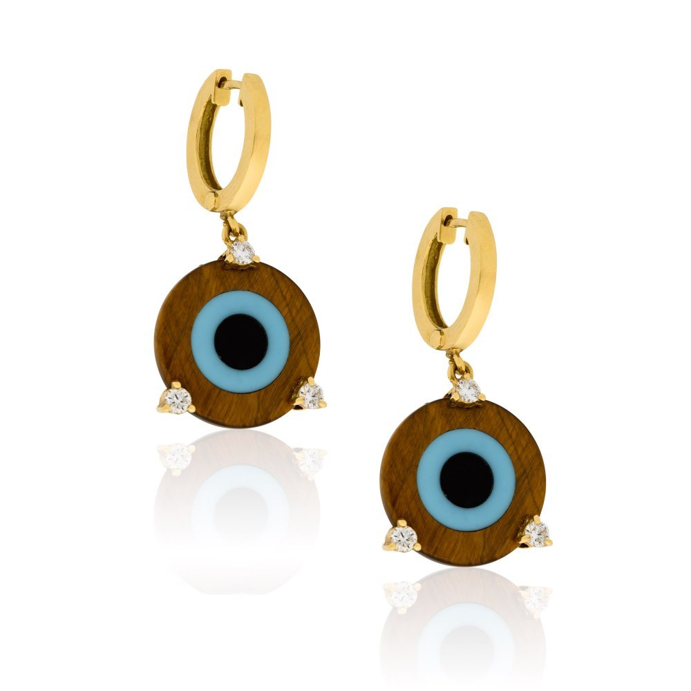 ANASTASIA KESSARIS Eye of the Tiger Gold Earrings SKP180368