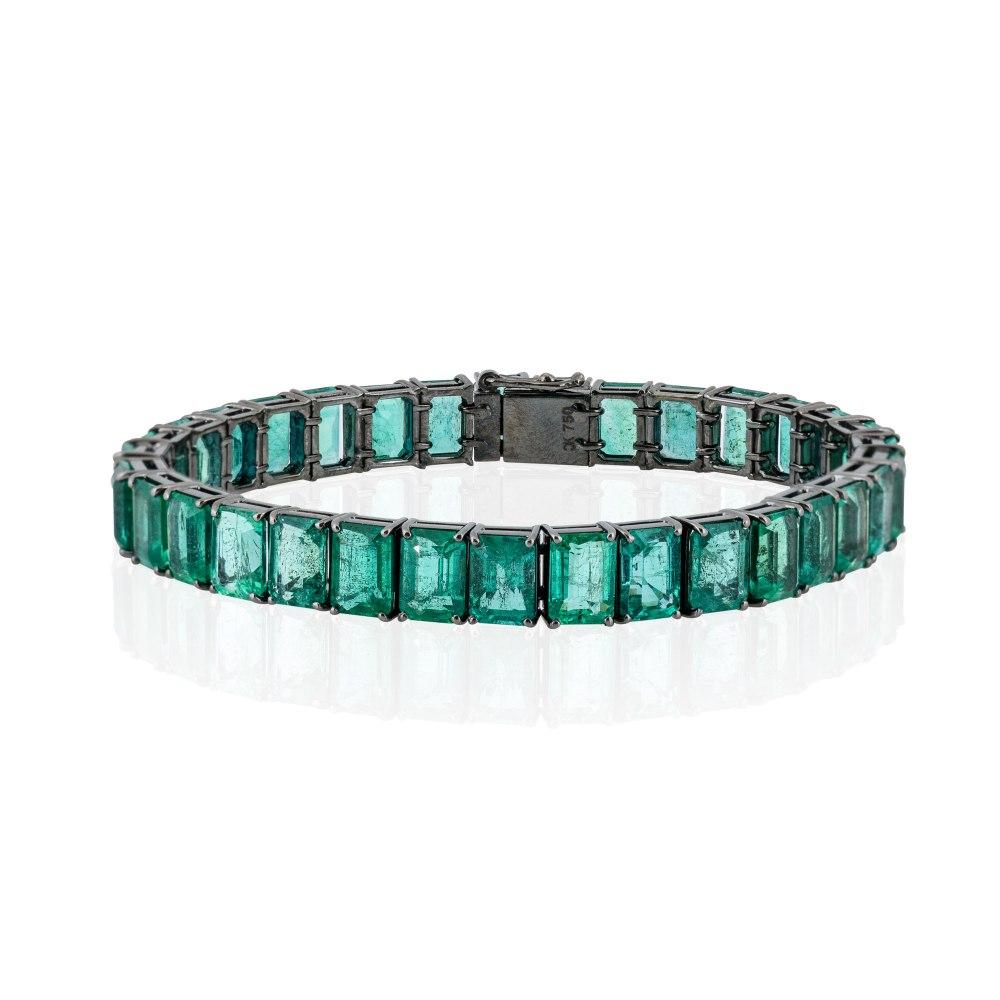KESSARIS Emerald Tennis Bracelet BRP200149