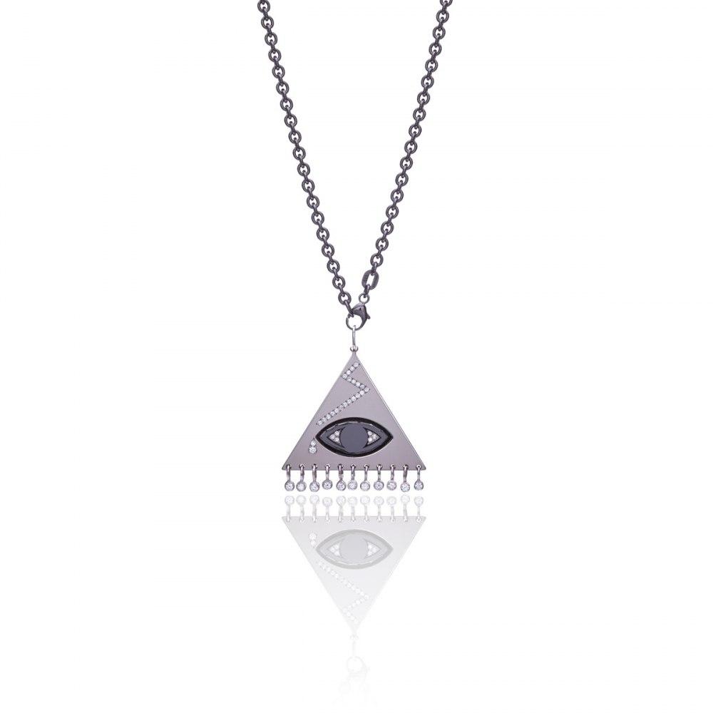 ANASTASIA KESSARIS Eye Titanium Diamond Pendant KRE173086