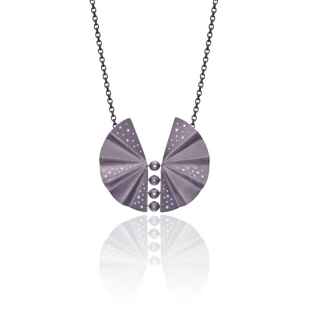 ANASTASIA KESSARIS Geisha Graphite Titanium and Diamond Necklace KOP170440