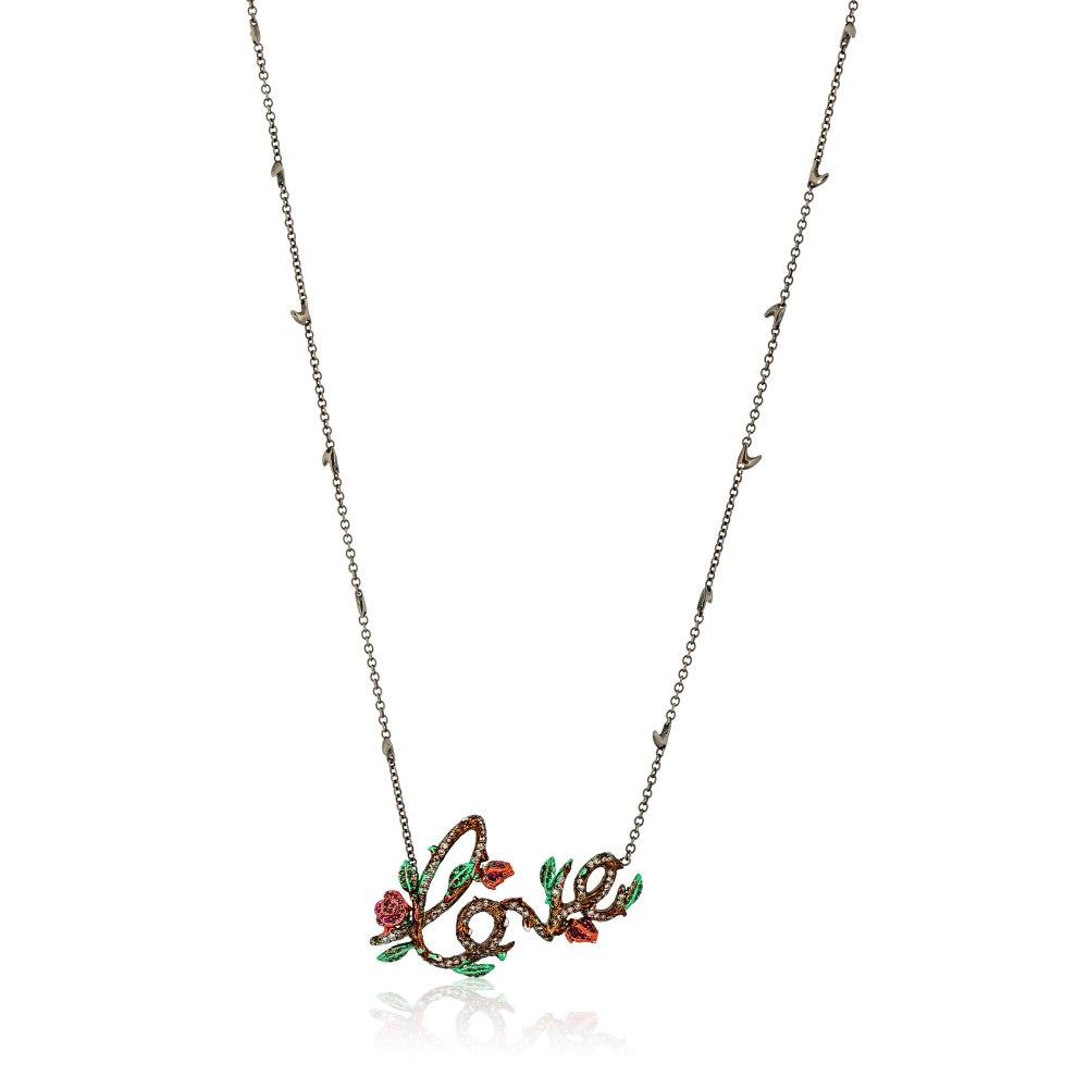 KESSARIS Gold Diamond Love Necklace KOP131152