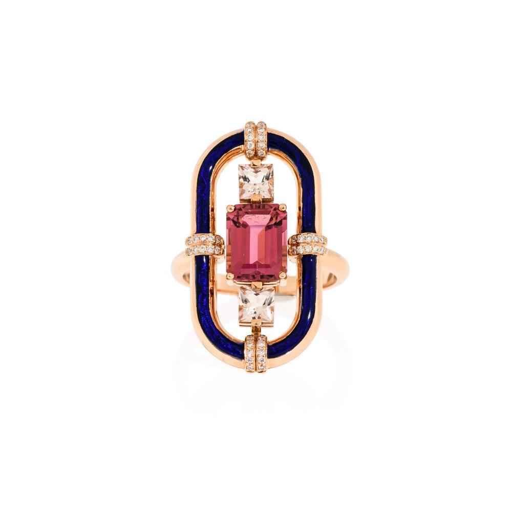 ANASTASIA KESSARIS Pink Tourmaline Statement Ring DAE191286