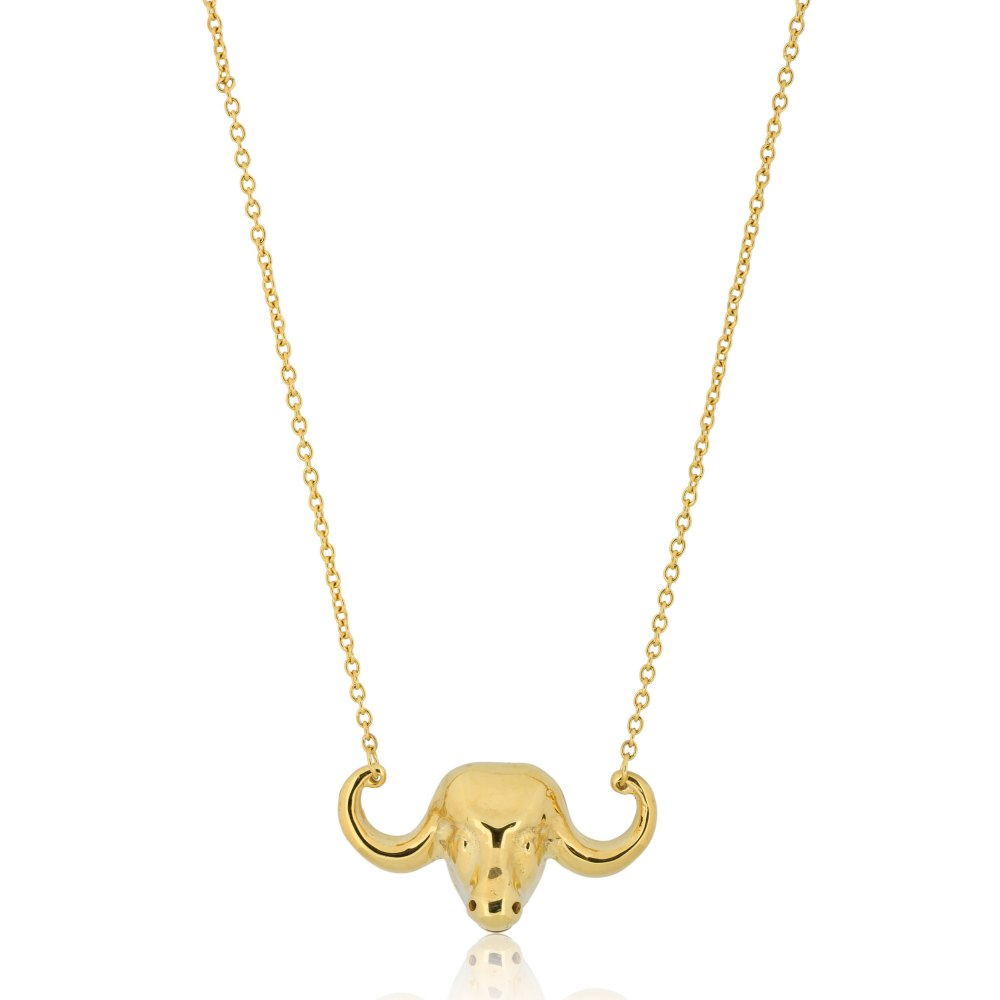 KESSARIS Lucky Charm 2021 Taurus Necklace Gold Plated DFE209400