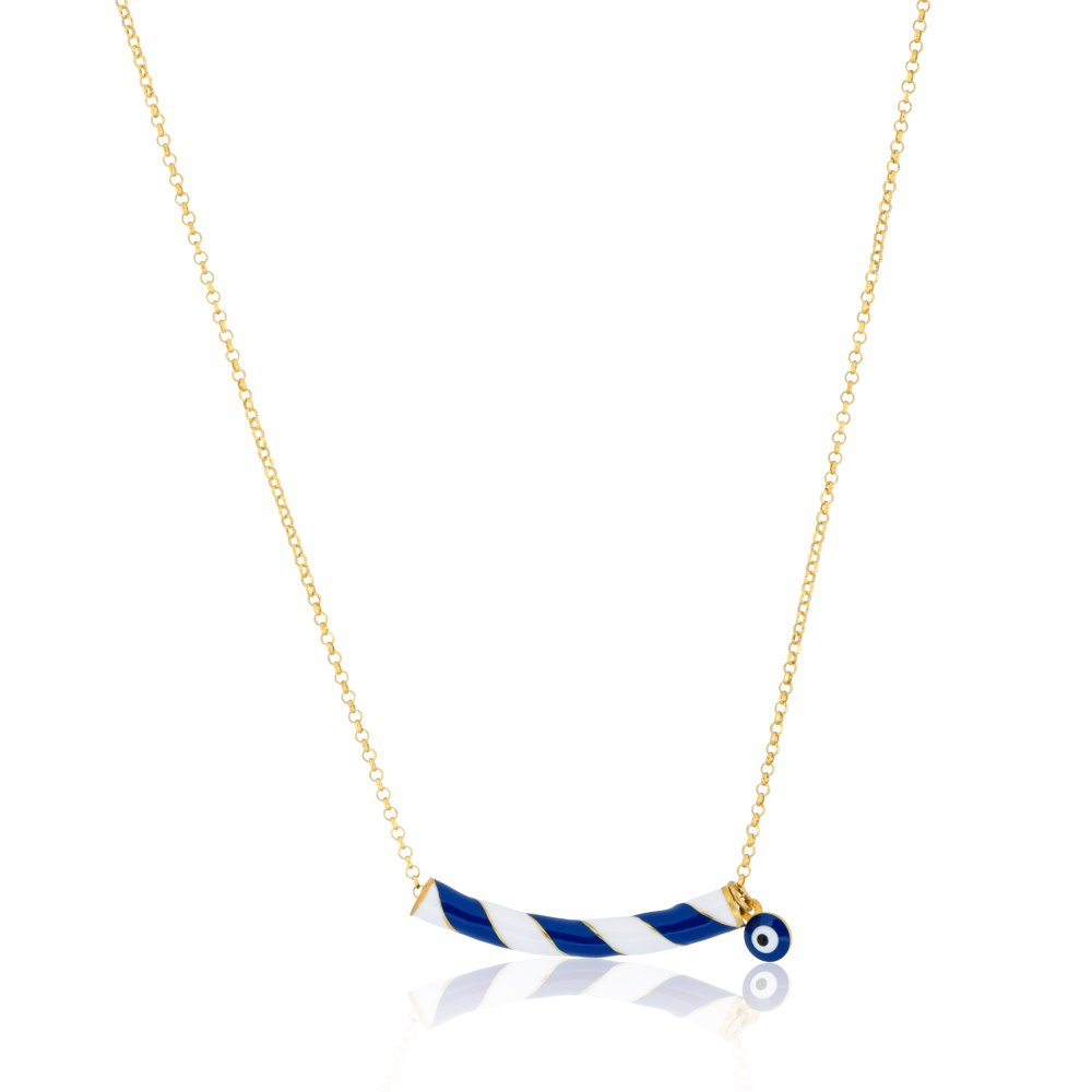 KESSARIS Lucky Charm 2021 Blue Candy Necklace with Evil Eye DFE.209359-BL