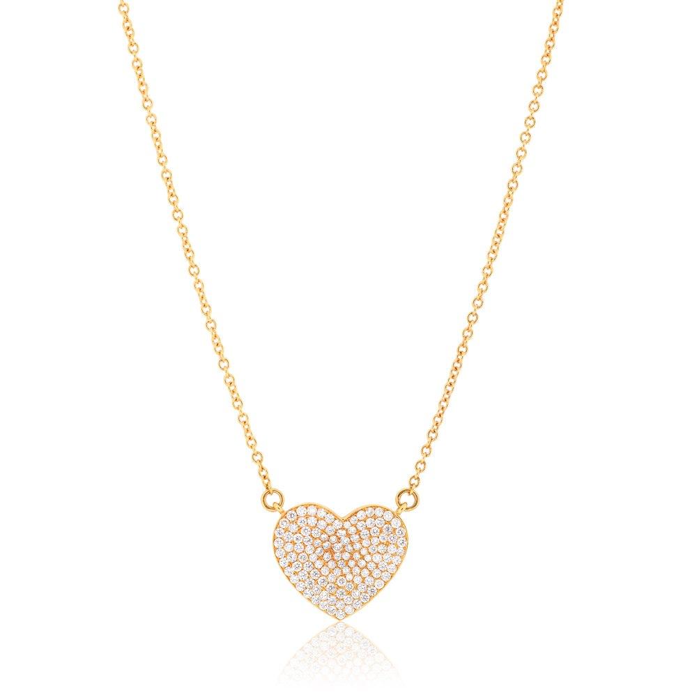 KESSARIS Heart Diamond Necklace KOE104472-RG