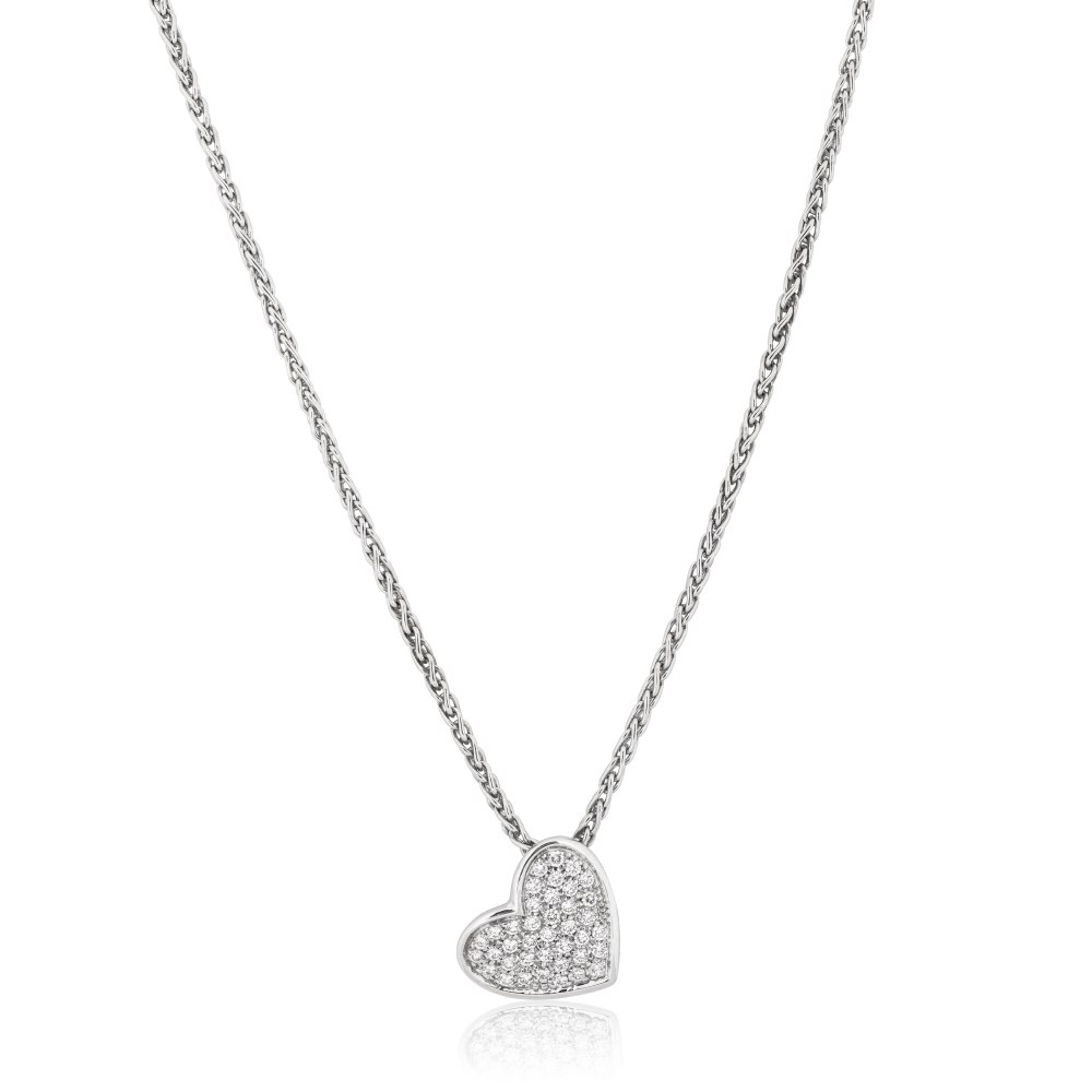 KESSARIS Heart Diamond Necklace KOP140558