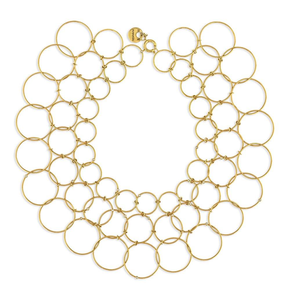 KESSARIS Hoop Gold Necklace KOE65089