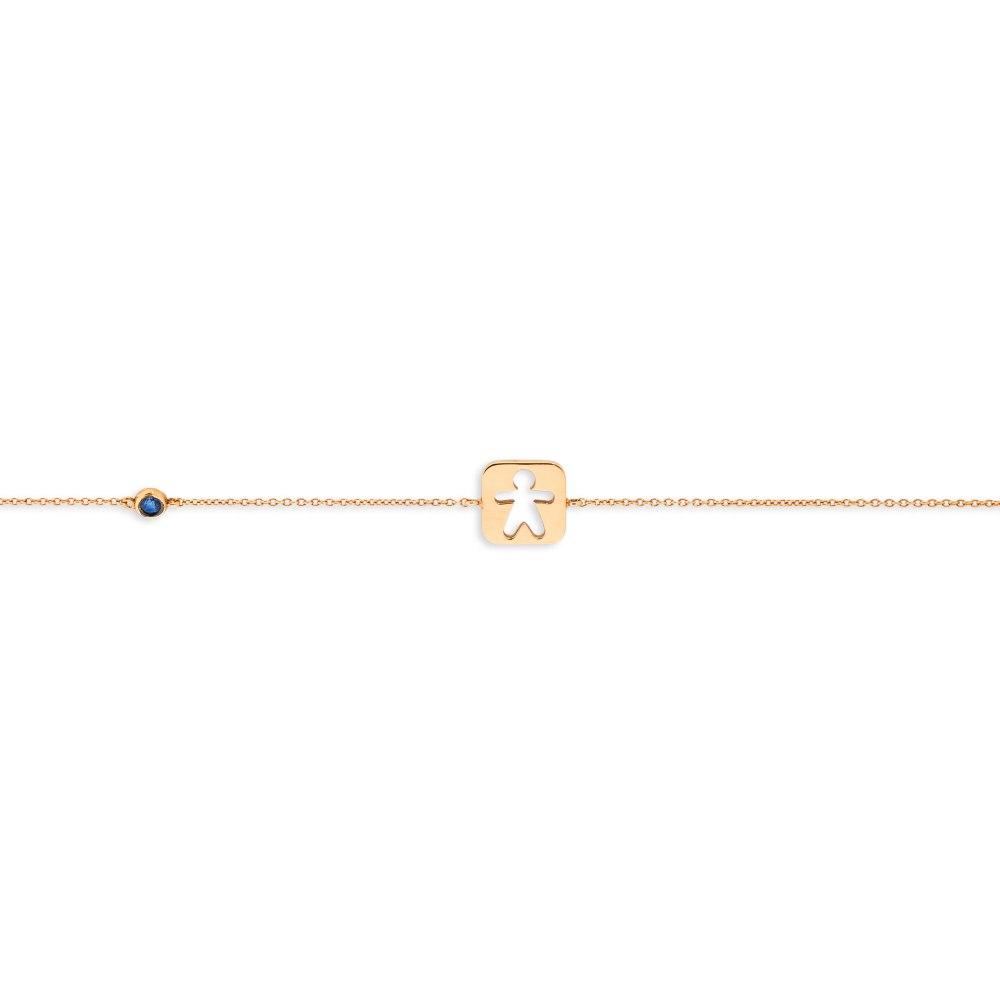 KESSARIS Kid Sapphire Gold Bracelet BRE140749