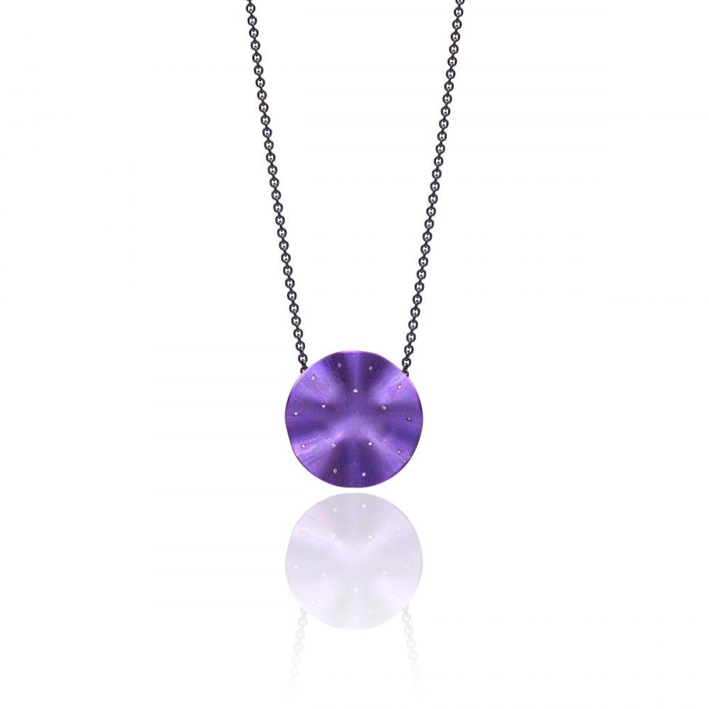 ANASTASIA KESSARIS Lillylicious Purple Titanium and Diamond Pendant KRP172023-and-DFE169449