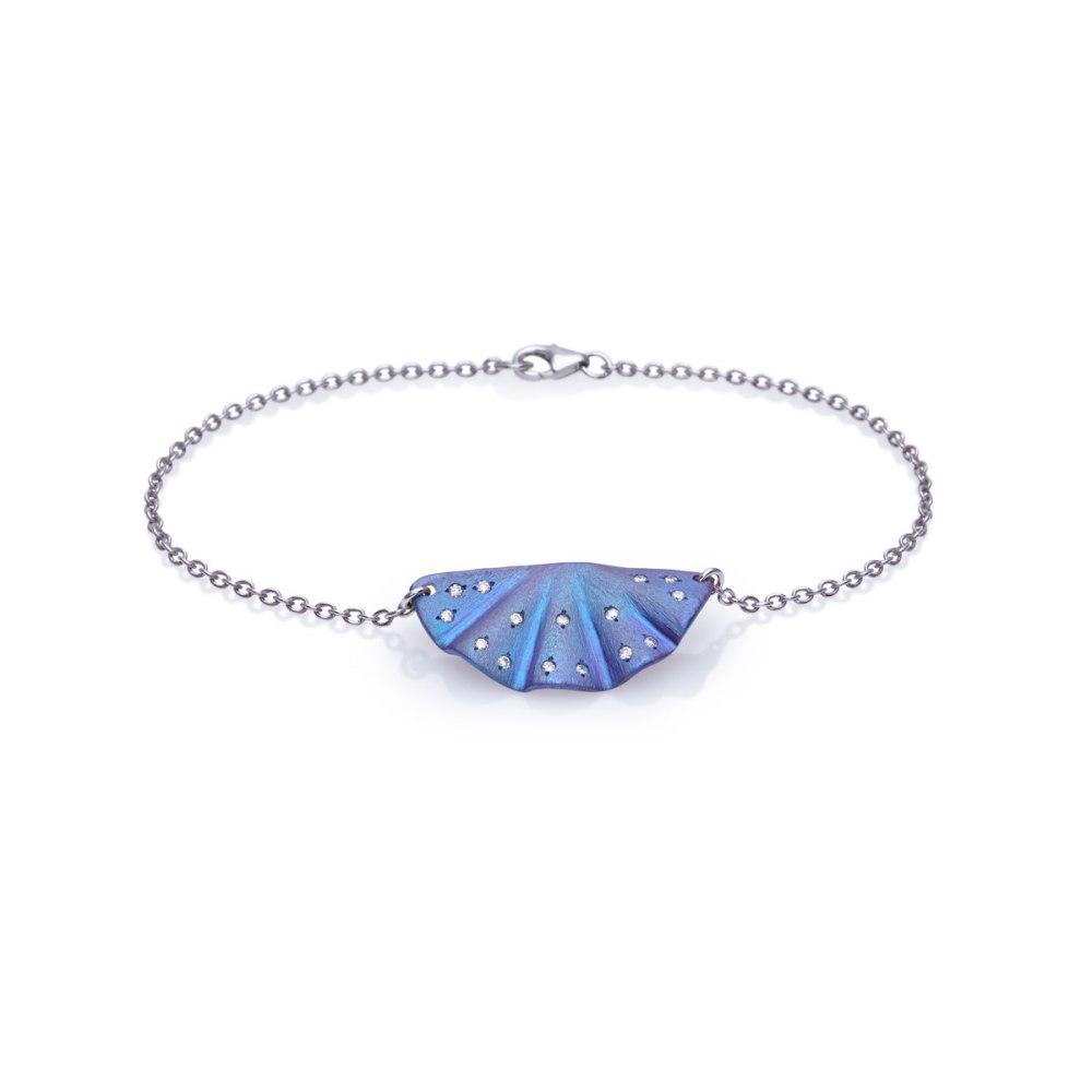 ANASTASIA KESSARIS Maiko Blue Titanium and Diamond Bracelet BRP172072
