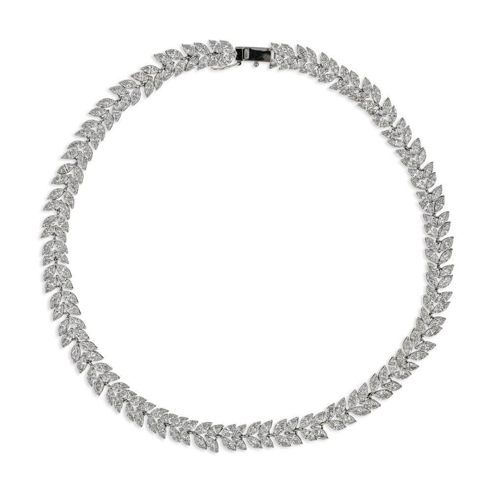 KESSARIS Marquise Diamond Necklace KOE171715
