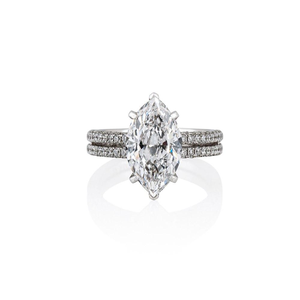 KESSARIS Marquise Diamond Ring DAE191116