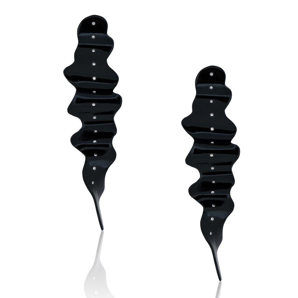 ANASTASIA KESSARIS Milkyway Black Titanium Diamond Earrings SKP182159