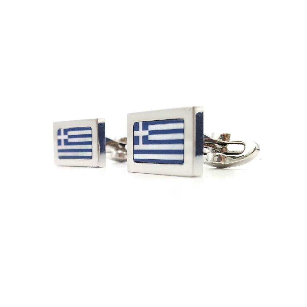 Kessaris-Tibaldi for Greece Flag Cufflinks