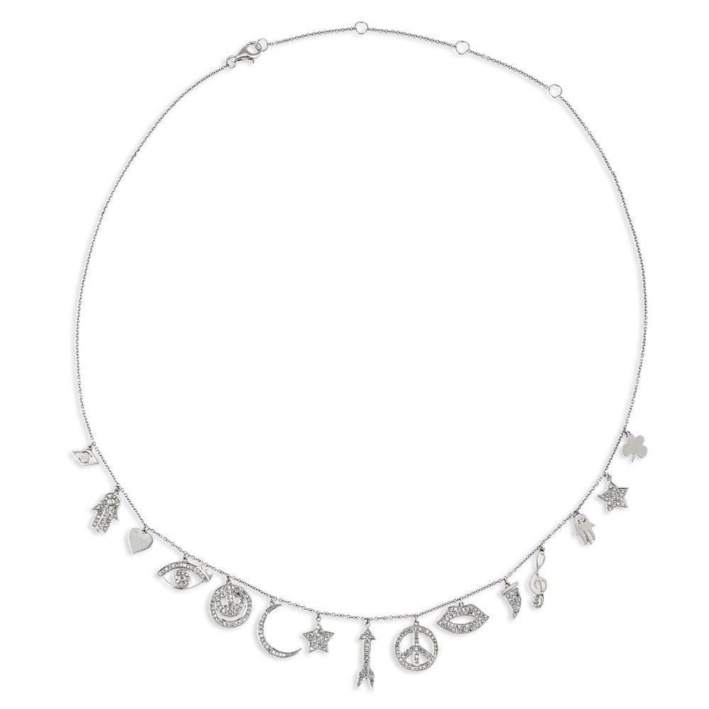 KESSARIS Multi Charm Diamond Necklace KOE192647