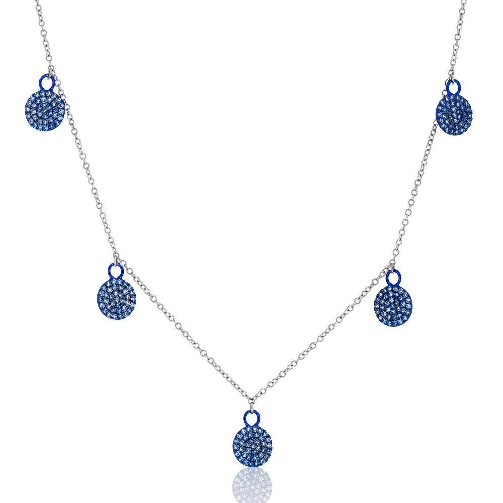 KESSARIS Multi Circle Charm Diamond Necklace KOE192637