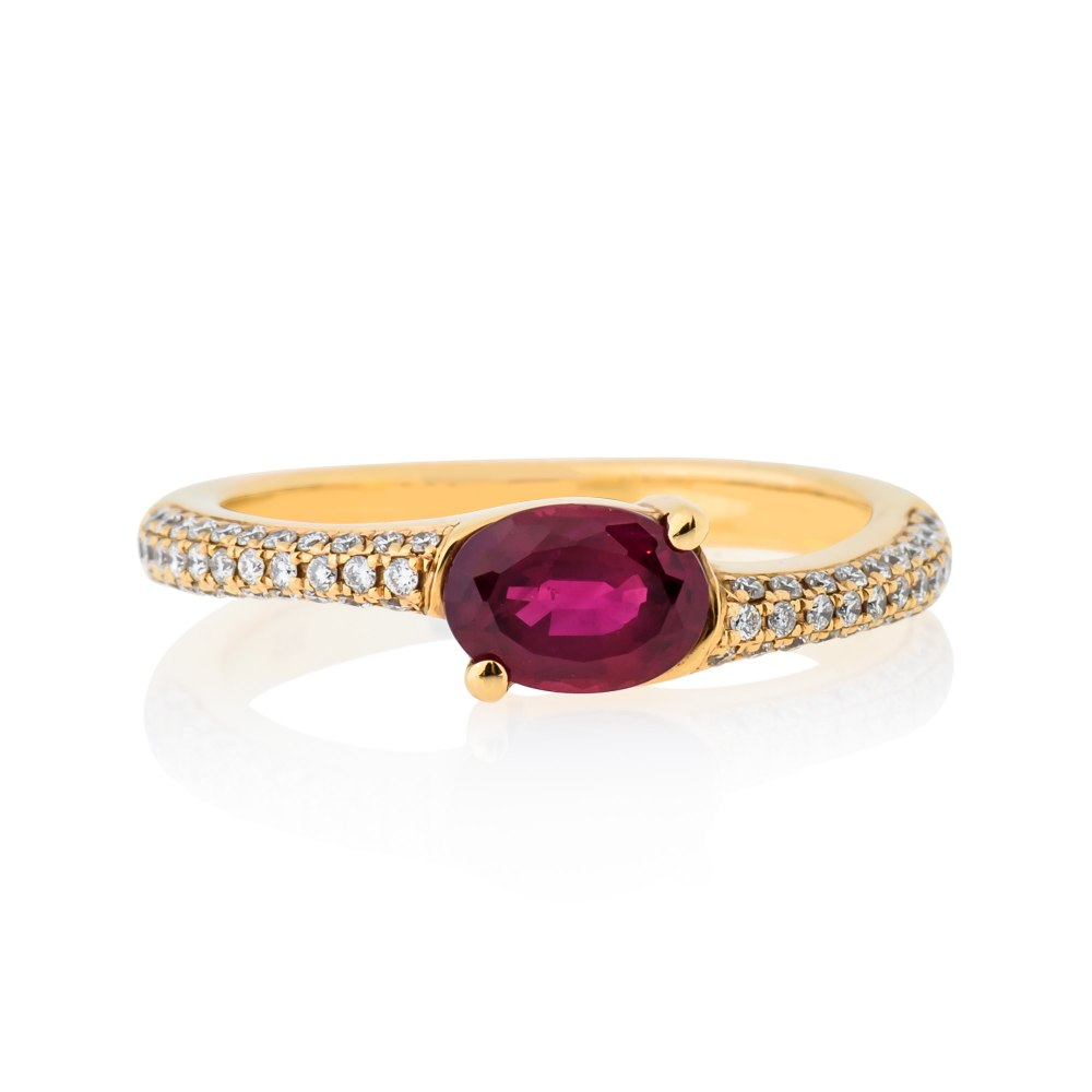 KESSARIS Ruby and Diamond Gold Ring DAE141156
