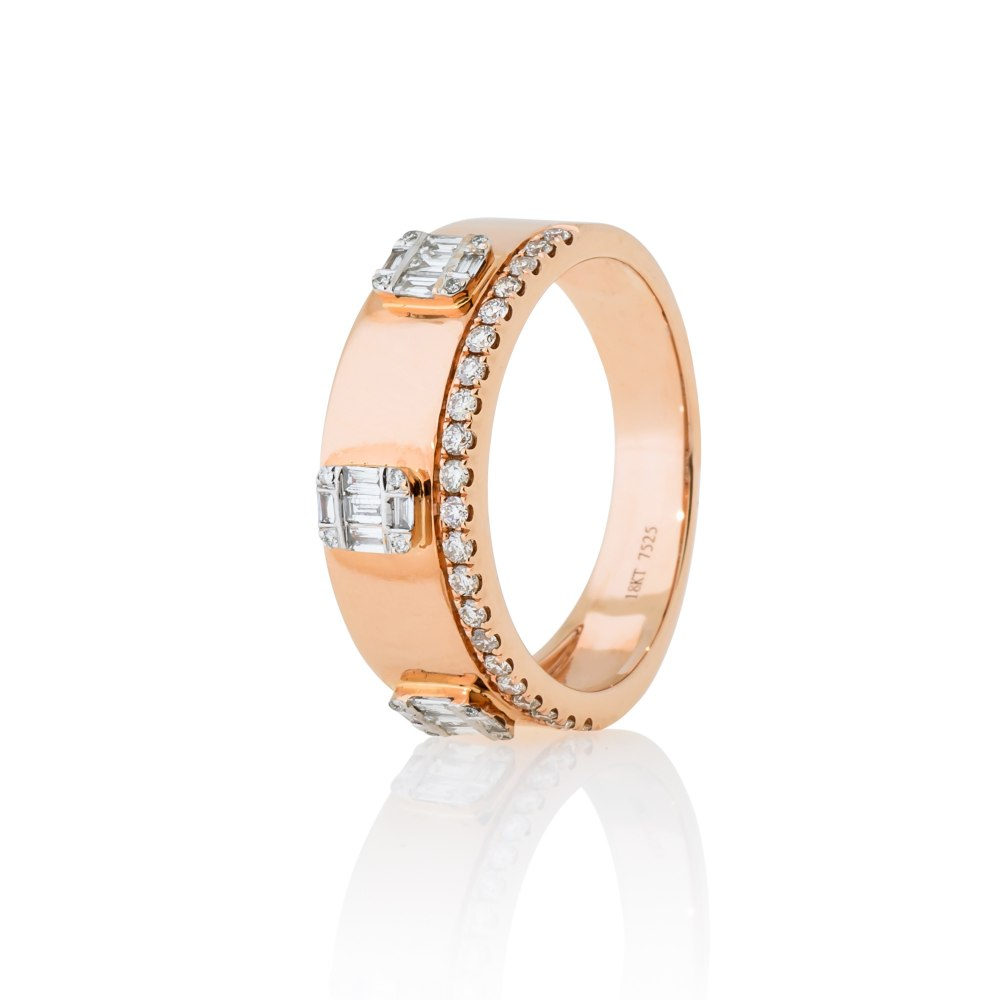 KESSARIS Rose Gold Diamond Ring DAE182473