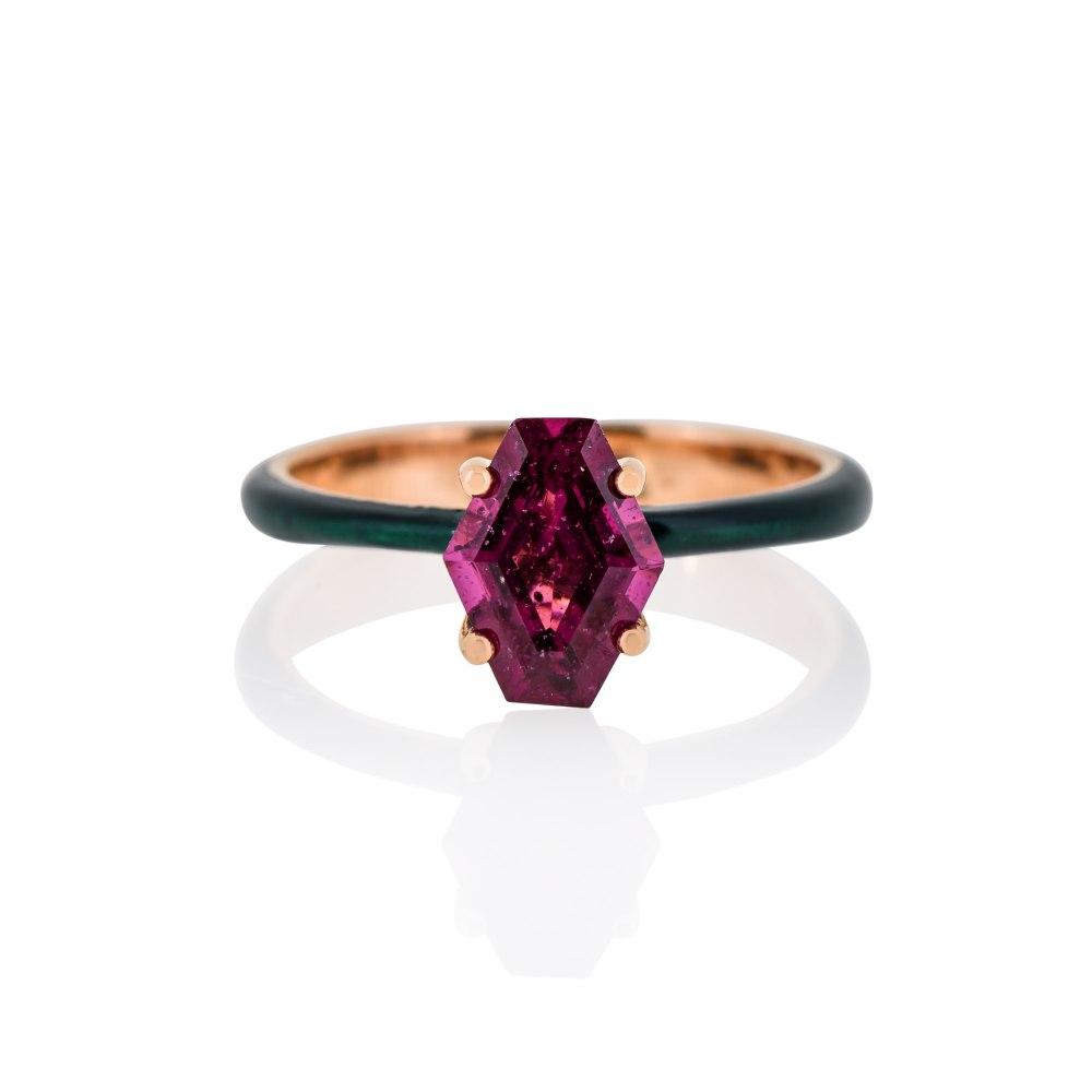 ANASTASIA KESSARIS Gold Enamel Ring DAE182791