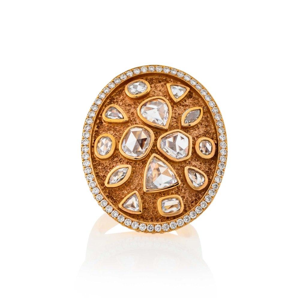 KESSARIS Rose Gold Diamond Ring DAP170695