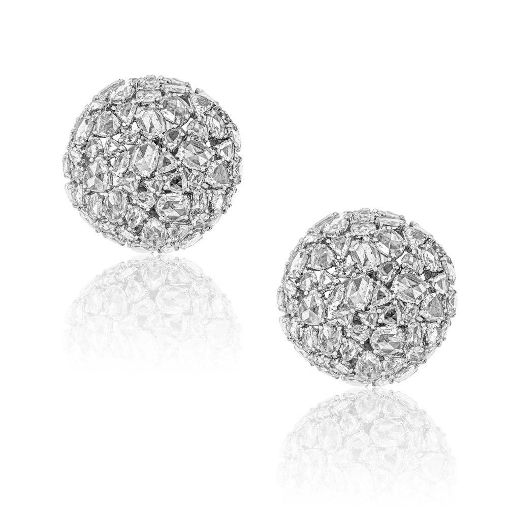 KESSARIS Rose Cut Diamond Earrings SKP191702
