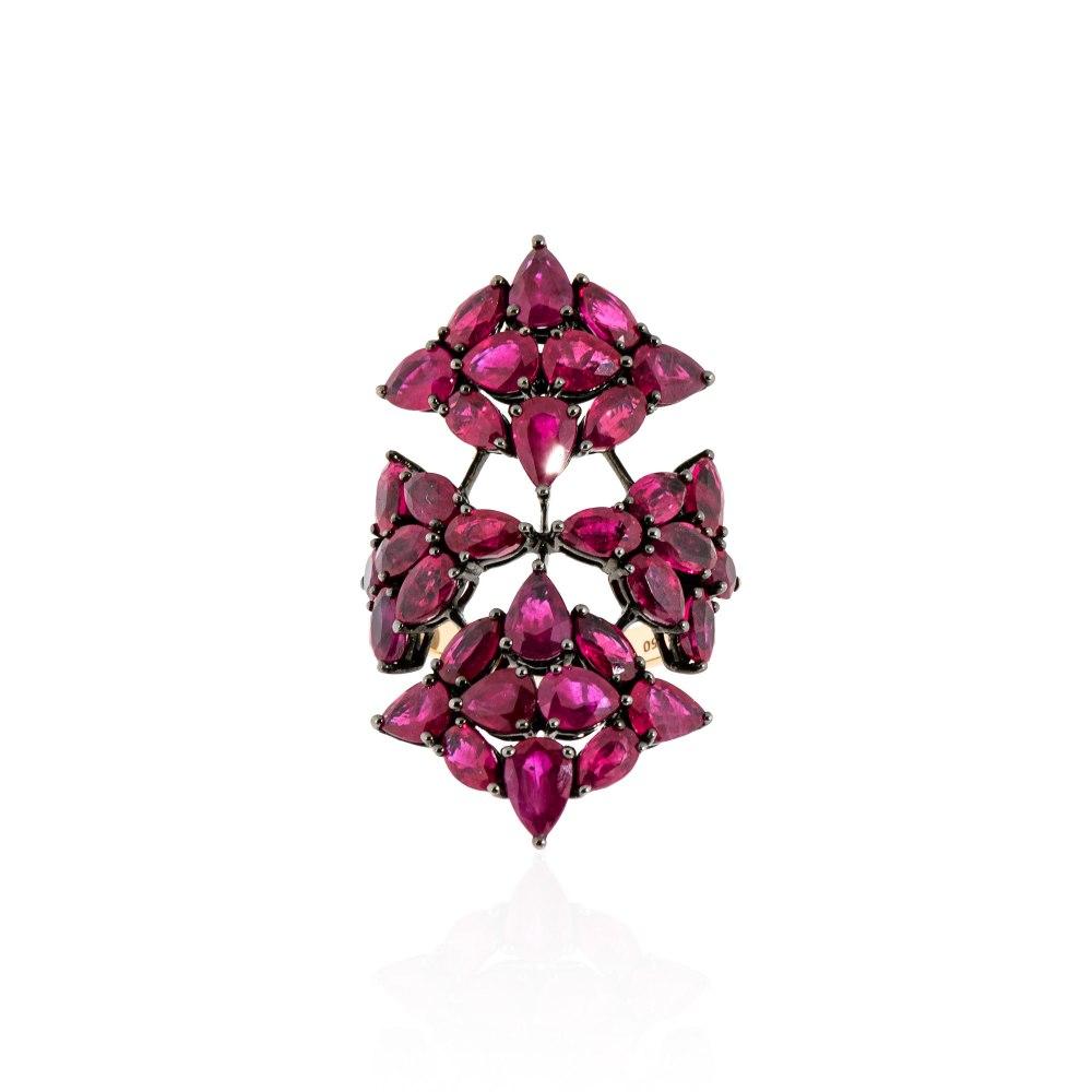KESSARIS Ruby Shield Ring DAE162630