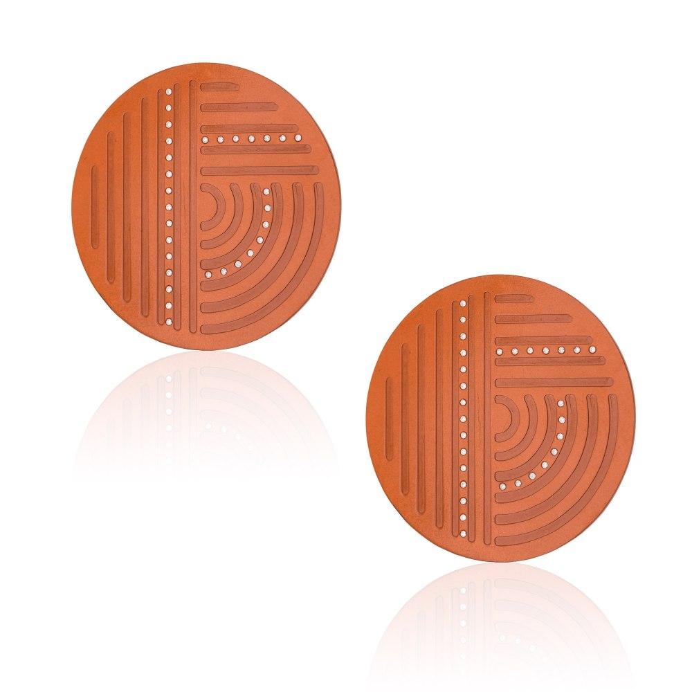 ANASTASIA KESSARIS Solar Maze Orange Titanium Diamond Earrings A.ER.AP0038