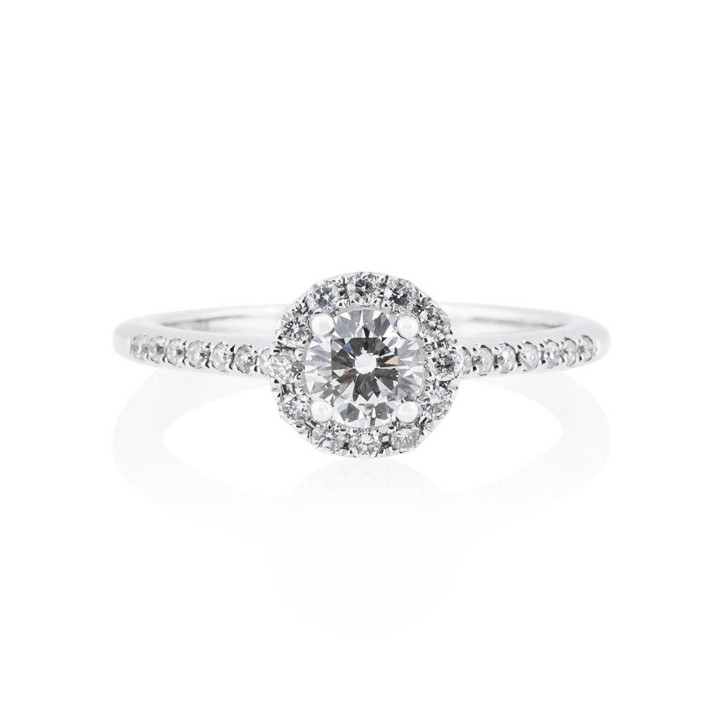 KESSARIS Diamond Halo Engagement Ring DAE143030