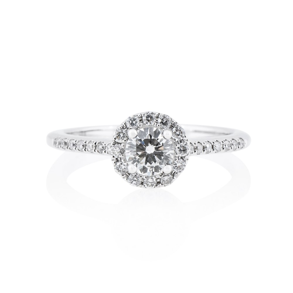 KESSARIS Diamond Halo Engagement Ring DAE143030