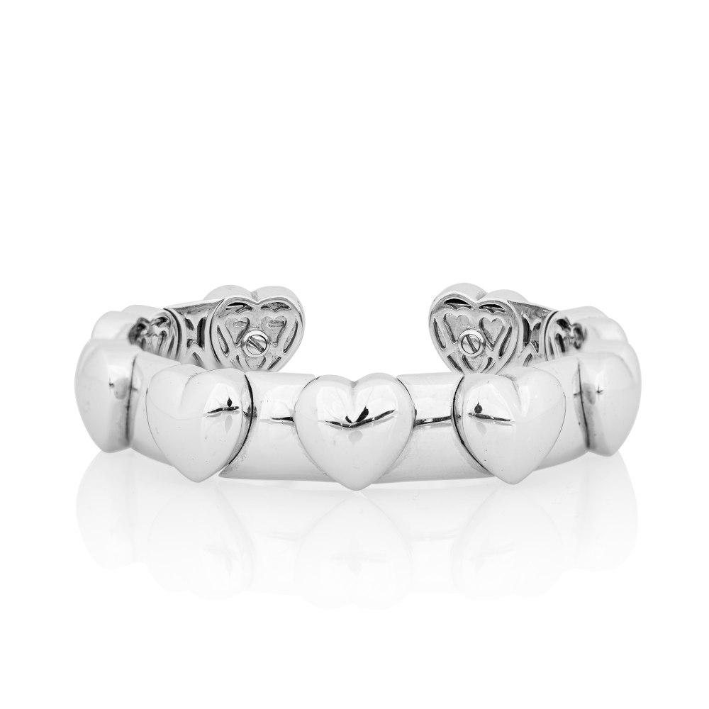 KESSARIS White Gold Heart Bracelet BRX042243