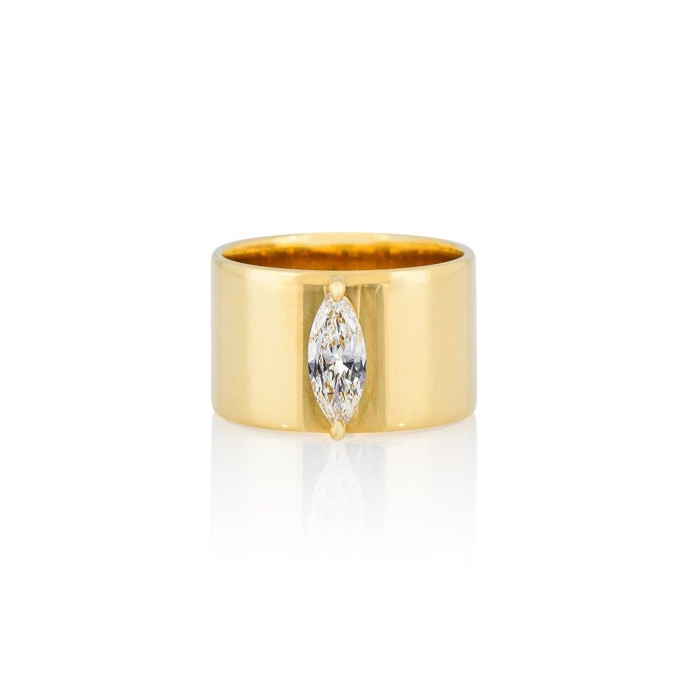 ANASTASIA KESSARIS Yellow Gold Marquise Diamond Ring DAP192037